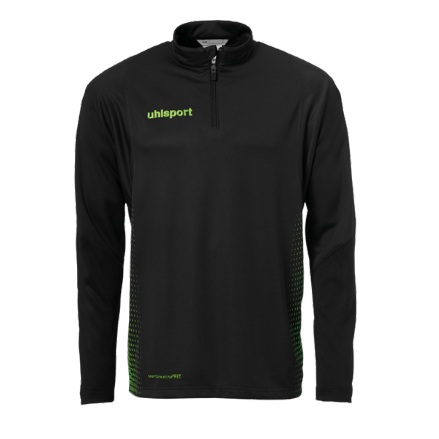 Score 1/4 Zip Top Black / Fluo Green